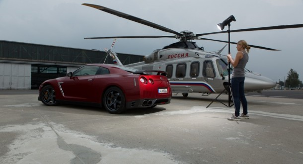Shooting – Nissan GT-R & Helikopter