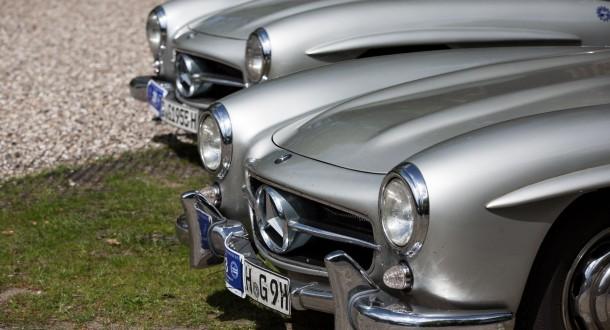 Jahrestreffen des Mercedes-Benz 300SL Clubs in Hamburg